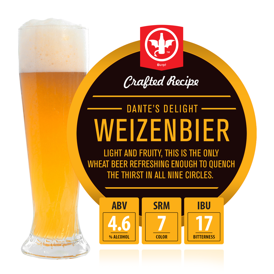 Dante's Delight Weizenbier Recipe Kit- Subscription