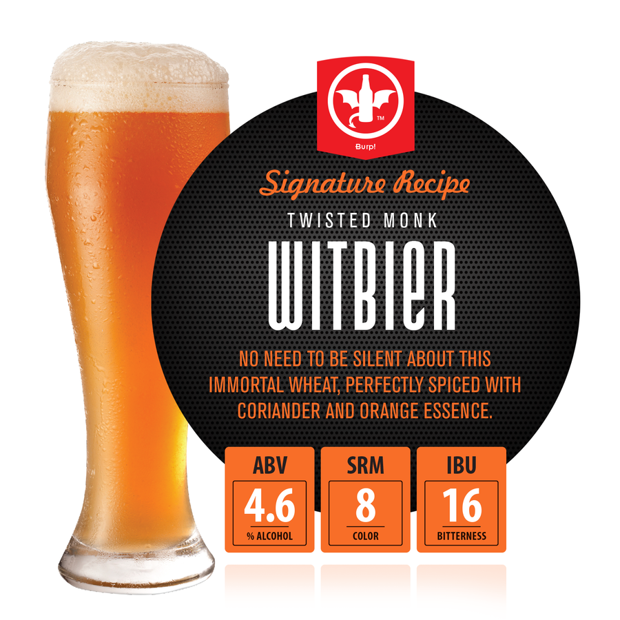 1 Gal. Twisted Monk Witbier Recipe Kit