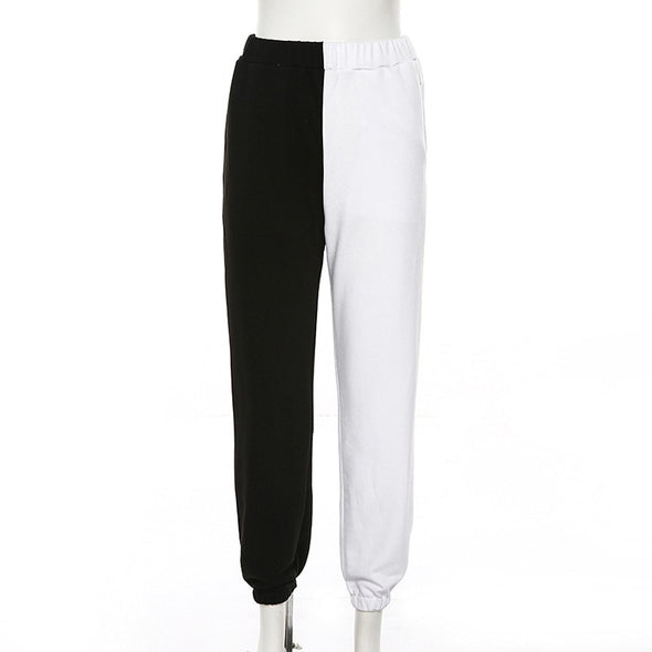 Black high waist jogger pants