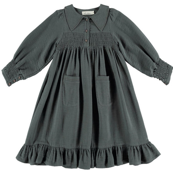 Belle Chiara Smocked Pockets Dress