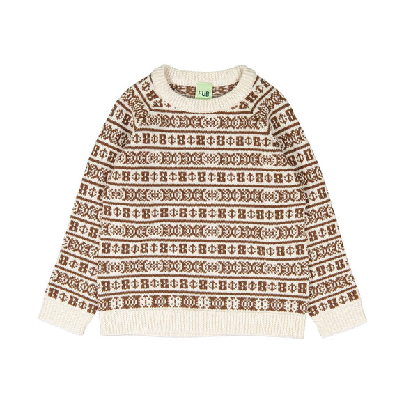 FUB SWEATER JACQUARD SWEATER (2Y-12Y)