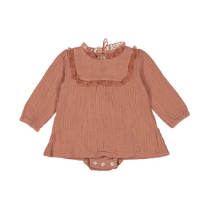 TOCOTO DRESS W/LACE (6M-2Y)