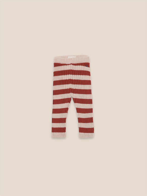 BOBO CHOSES STRIPED KNITTED LEGGINGS (6M-24M) - Klade Children's Boutique