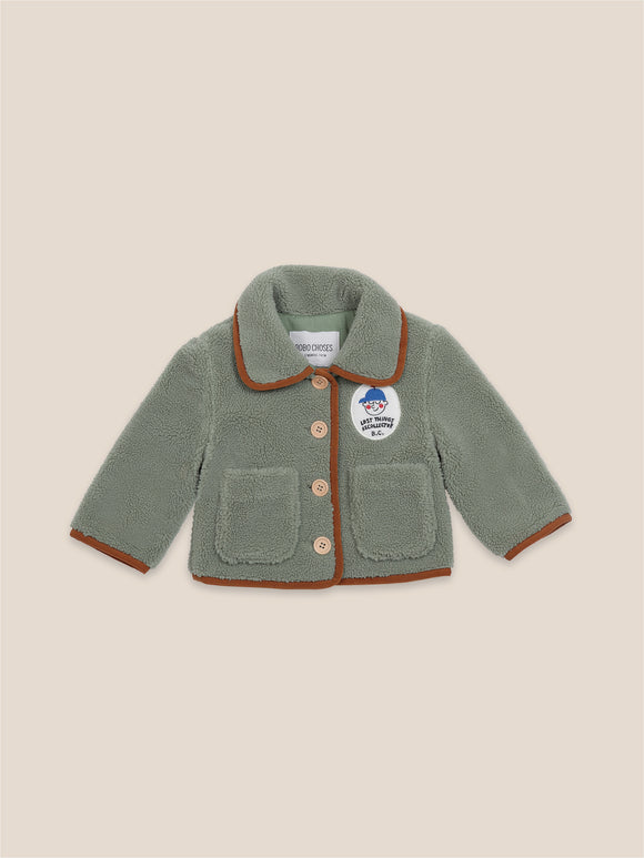 BOBO CHOSES BOY PATCH SHEEPSKIN JACKET (6M-24M) - Klade Children's Boutique