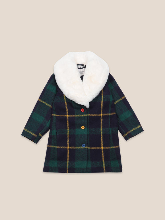 BOBO CHOSES CHECKER COAT (2Y-9Y) - Klade Children's Boutique