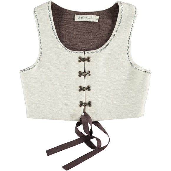 Belle Chiara Vest Embriodered