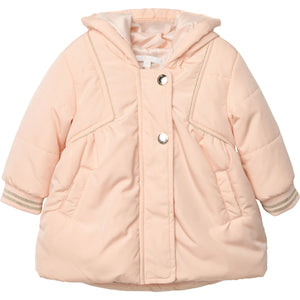 CHLOE HOODED JACKET GOLD PIPING DETAILS - Klade Children's Boutique