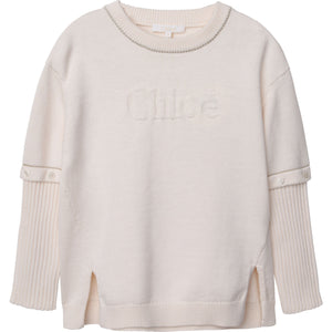 CHLOE KNITTED SWEATER REMOVABLE SLEEVES - Klade Children's Boutique