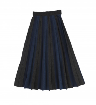 Mun Metallic Ombre Pleat Midi
