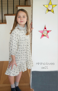 NINA LOVES BIANCA APRON DRESS (4Y-8Y)