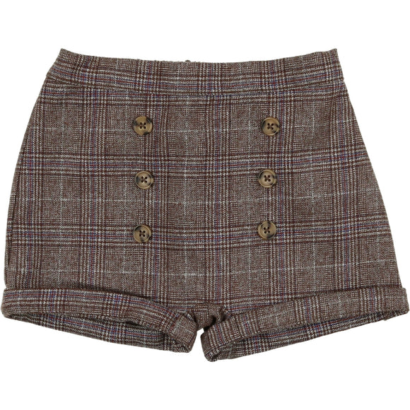DELICAT PLAID WOOL SHORTS (9M-3Y)
