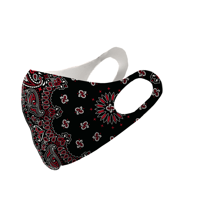 Black and Red Paisley Olson Mask