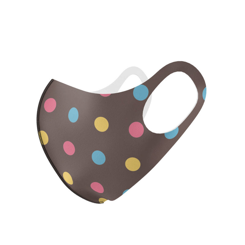 Brown Polka Dot Olson Mask