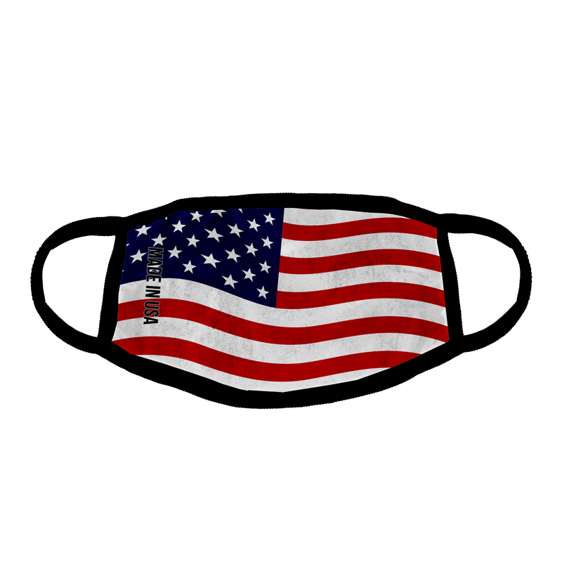 All Over Print American Flag Ear Loop Mask
