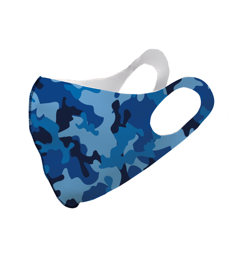 Blue Ice Camouflage Olson Face Mask