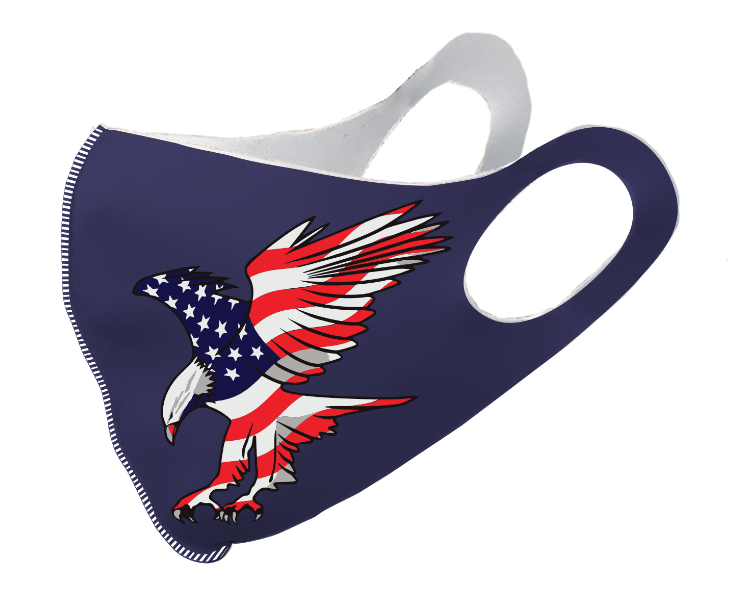 US Eagle Flag Dark Olson Mask