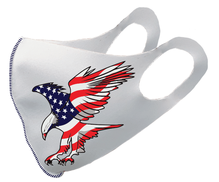 US Eagle Flag White Olson Mask