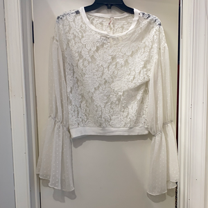 Free People Long Sleeve Top Size Small