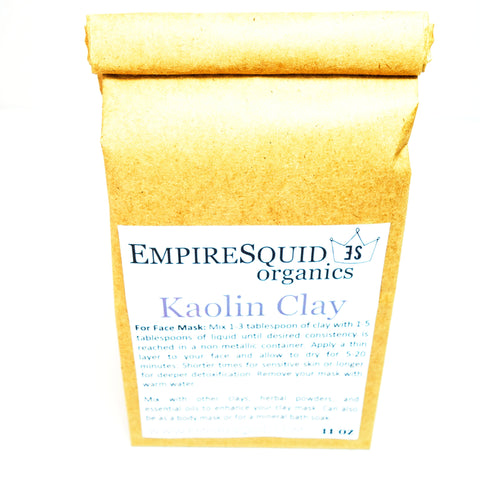 kaolin clay, white clay, white cosmetic clay, clay mask for dry skin