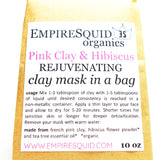 French Pink & Hibiscus Rejuvenating Clay Mask - EmpireSquid Organics