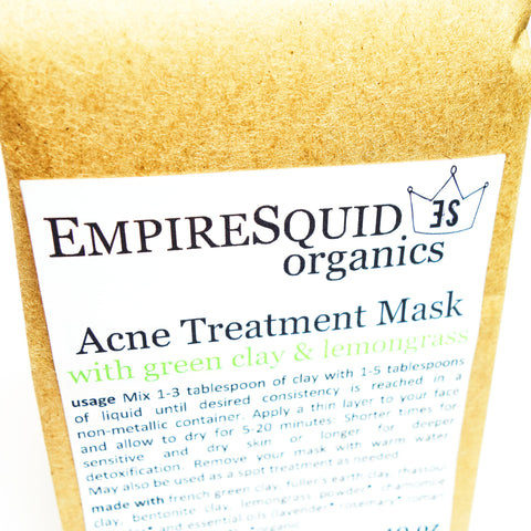 Acne Mask, Detoxifying Mask, Organic Clay Mask