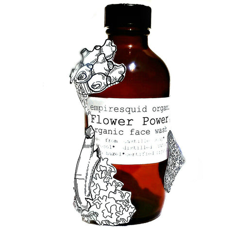 Flower Power Organic Face Wash with Rose Hydrosol - EmpireSquid Organics