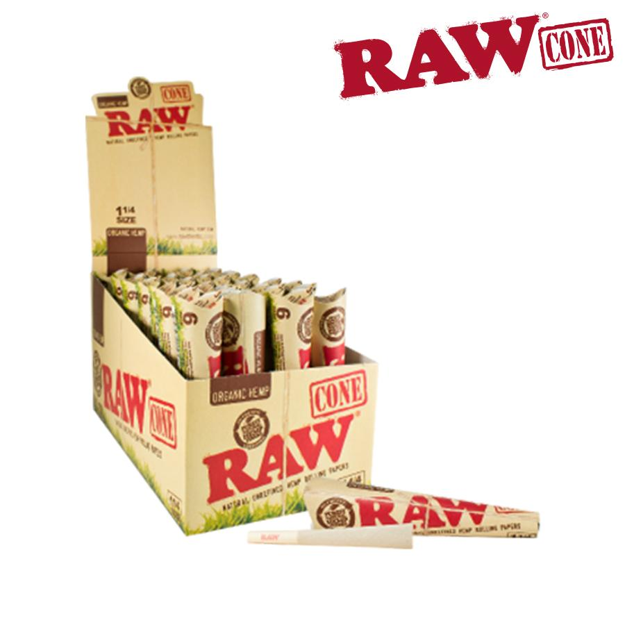Raw Organic Pre-Rolled Cone 1¼ - 6/Pack - Blunt & Cherry