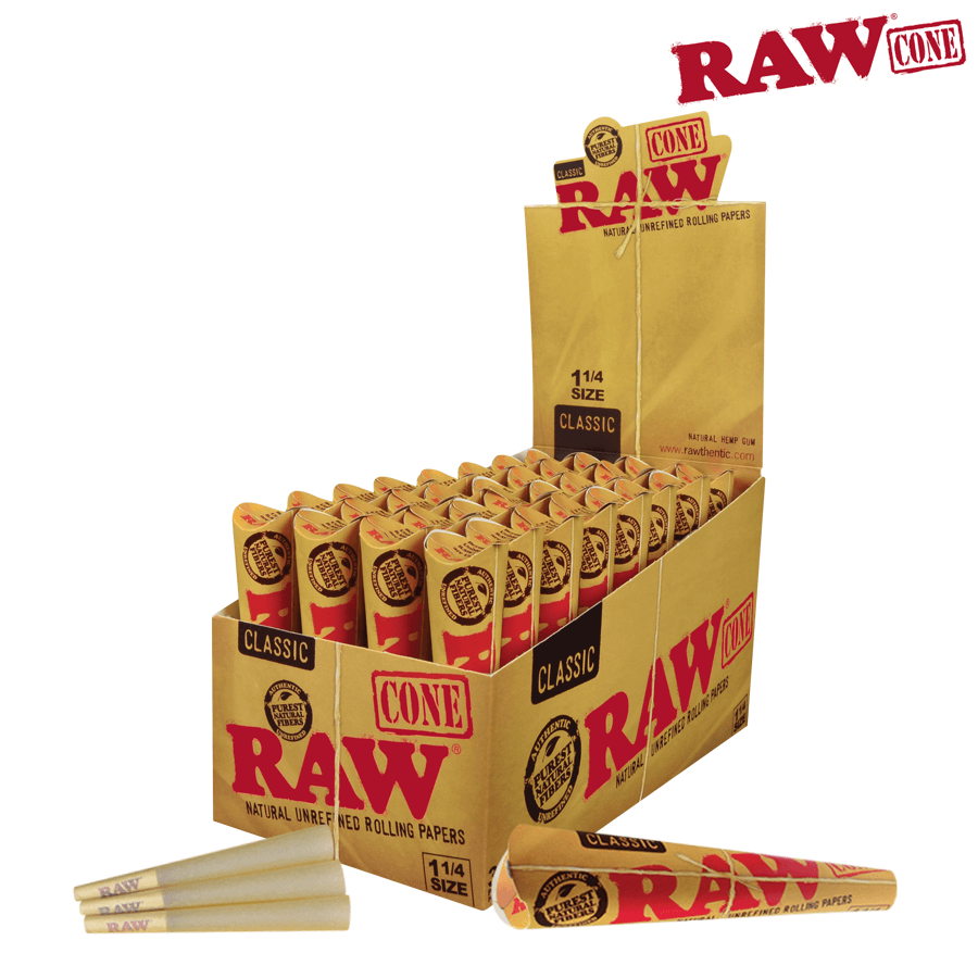 Raw Pre-Rolled Cone 1¼ – 6/Pack - Blunt & Cherry