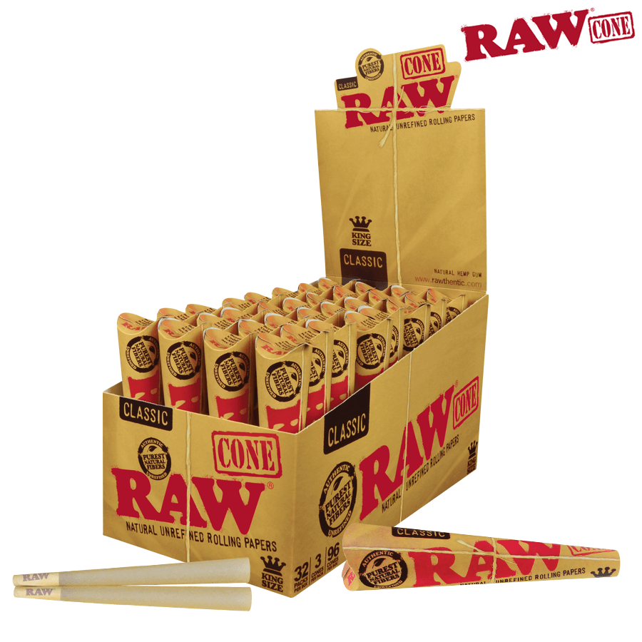 Raw Pre-Rolled Cone King Size– 3/Pack - Blunt & Cherry