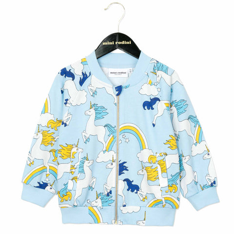 Mini Rodini Light Blue Unicorn Jacket