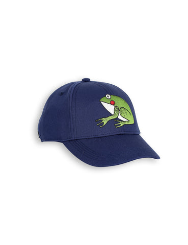 Mini Rodini Dark Blue Frog Cap