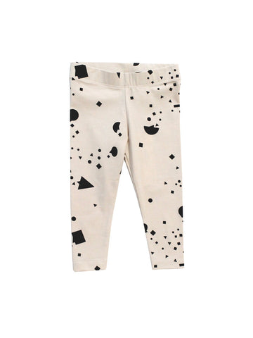 Tiny Cottons Black & White Geometry Chat Pants