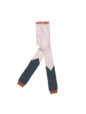 Tiny Cottons Pink/Navy Color Block Leggings