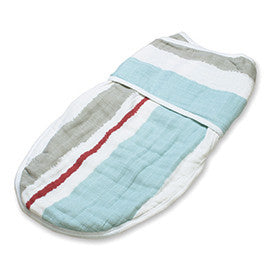 Aden + Anais Classic Easy Swaddles- Liam the Brave Blue Paintbrush