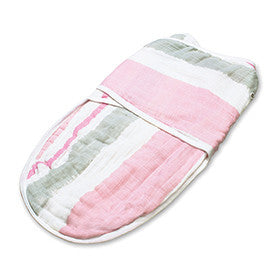 Aden + Anais Classic Easy Swaddles- For the Birds Pink Paintbrush