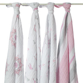 Aden + Anais Classic Swaddle For the Birds 4 Pack