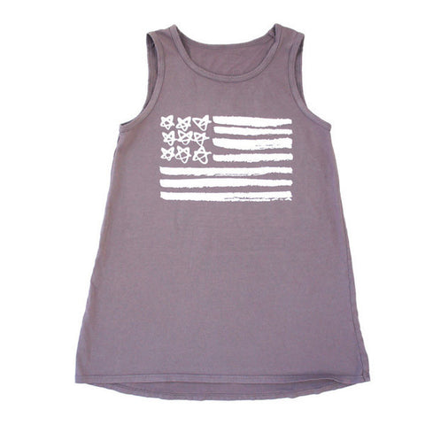 Kira Kids American Flag Tank Dress