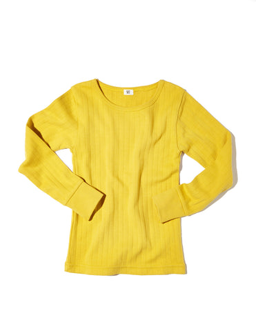 Goat Milk Mustard Yellow Thermal Top