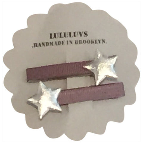 LULULUVS Brooklyn Gray/Silver Star Clips