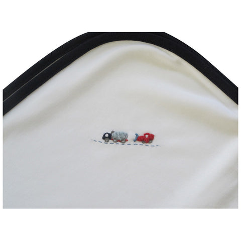 Lyda Baby Navy Cars and Trains Blanket