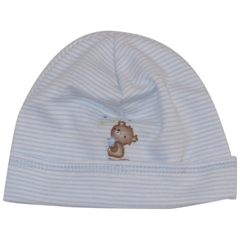Magnolia Baby Blue Stripe Teddy Hat
