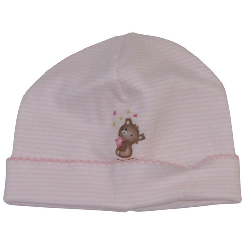 Magnolia Baby Pink Stripe Teddy Hat