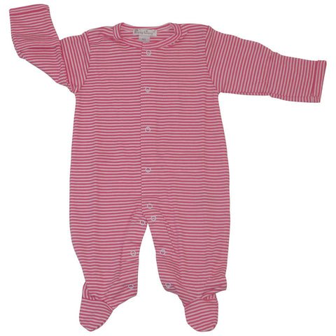 Kissy Kissy Fuschia Stripe Footie