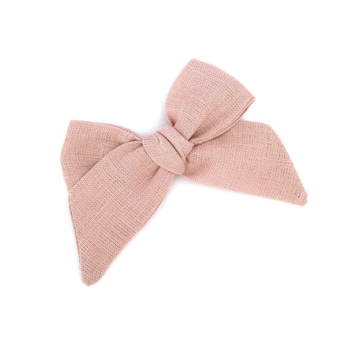 LULULUVS Blush Linen Tied Bow