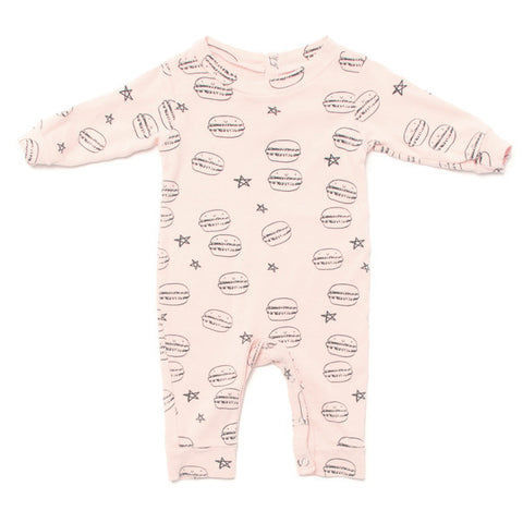 Kira Kids Light Pink Mini Macaron Romper
