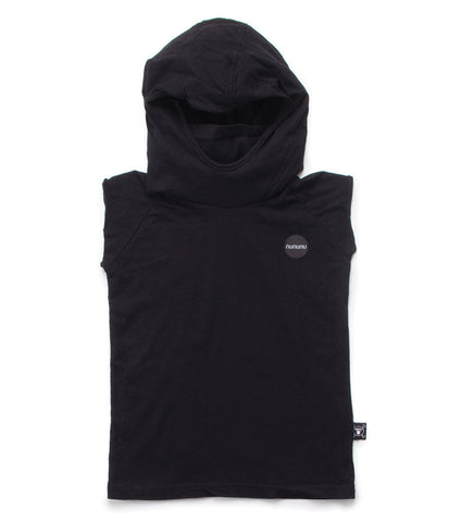 NUNUNU Black Hooded Ninja Shirt