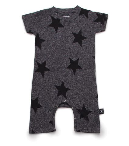 NUNUNU Charcoal Star Playsuit