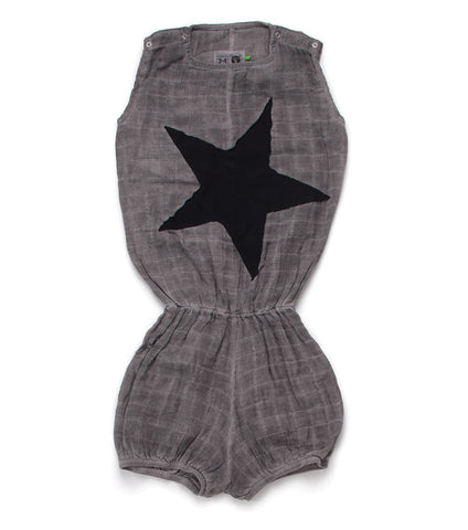 NUNUNU Star Patch Muslin Yoga Overalls