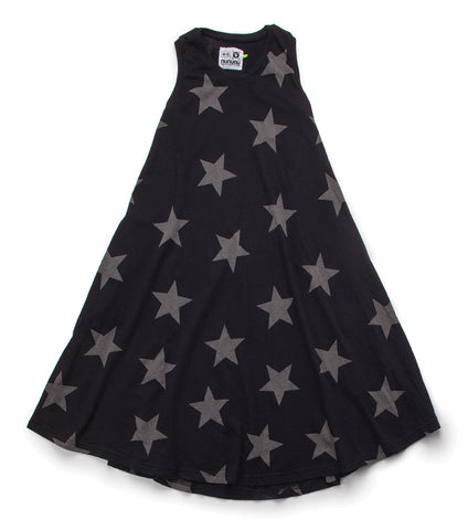 NUNUNU 360 Maxi Star Print Dress
