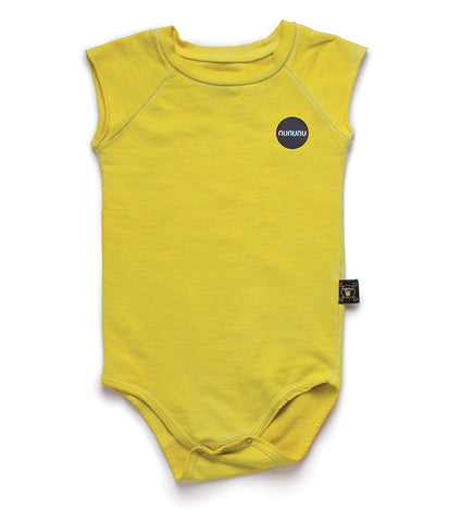 NUNUNU Dusty Yellow Muscle Bodysuit